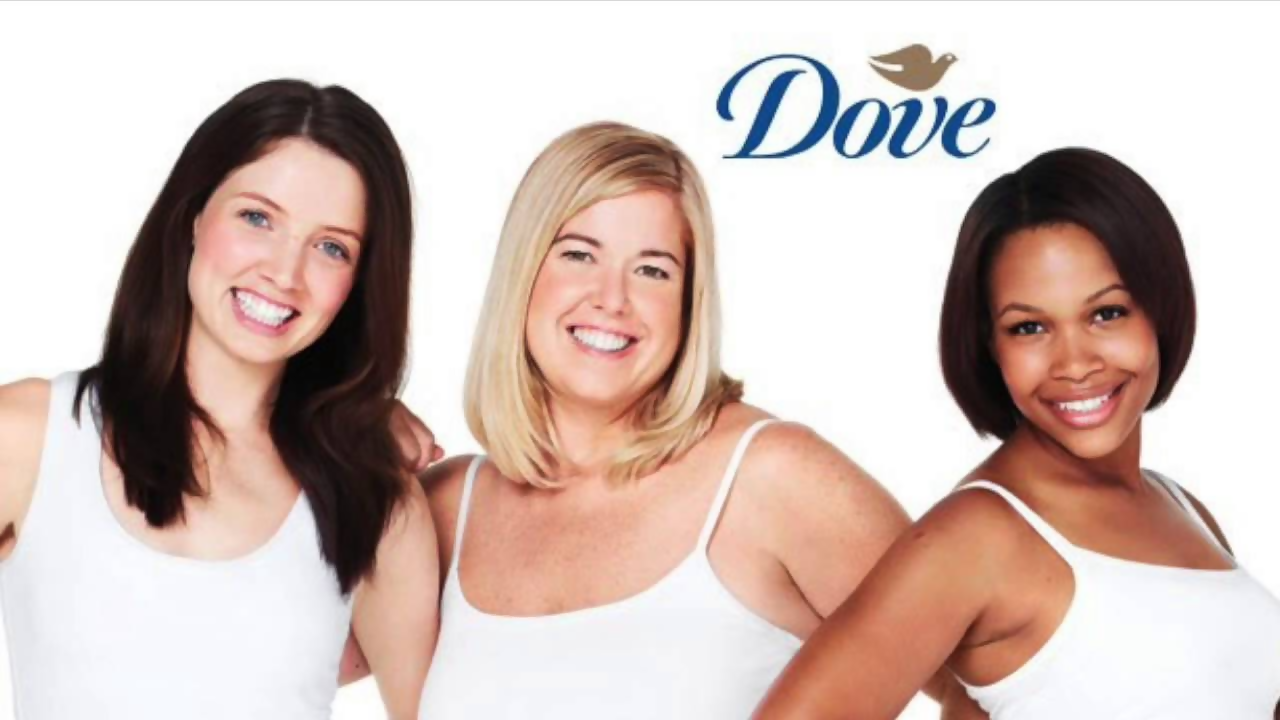 different skin woman on dove ad