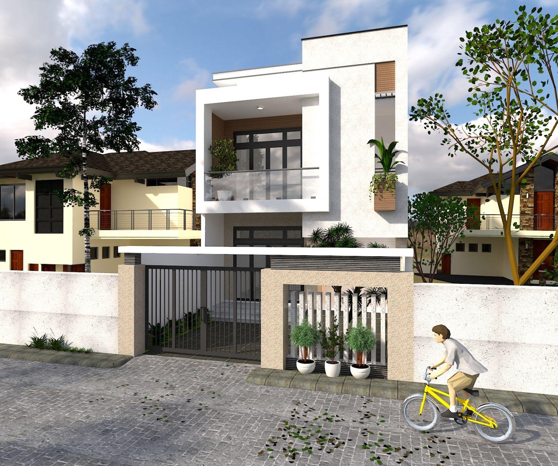 Mẫu thiết kế nhà 2 tầng 3 phòng ngủ