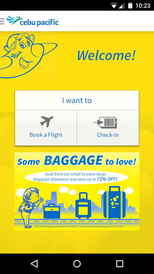Cebu Pacific- screenshot