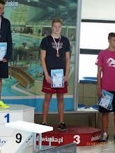 Photo: Letnie Mistrzostwa Polski w pływaniu - Maciej Danilewski  brązowy medal na 200m grzbietowym lipiec 2014