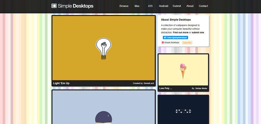 Simple Desktops homepage