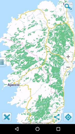 map of corsica offline screenshot 1