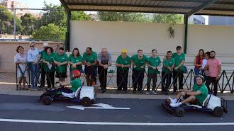 Usuarios del centro ocupacional Juan Goytisolo de la Asociación de Personas con Discapacidad Verdiblanca,