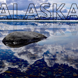 Alaska by Jeff Sluder - Typography Captioned Photos ( alaska frozen lake, alaska 2018 )