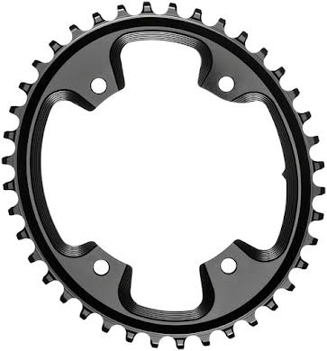 Absolute Black Oval N/W CX Chainring - 4-Bolt x 110 bcd alternate image 4