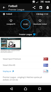 TVmatchen.nu - sport på TV- screenshot thumbnail