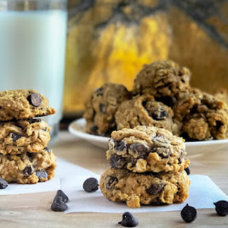 Healthy Peanut Butter Chocolate Chip Cookies.