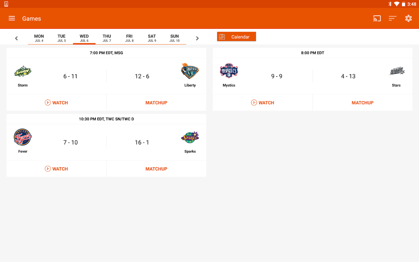 WNBA- screenshot