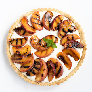 Grilled Peach Mascarpone Tart