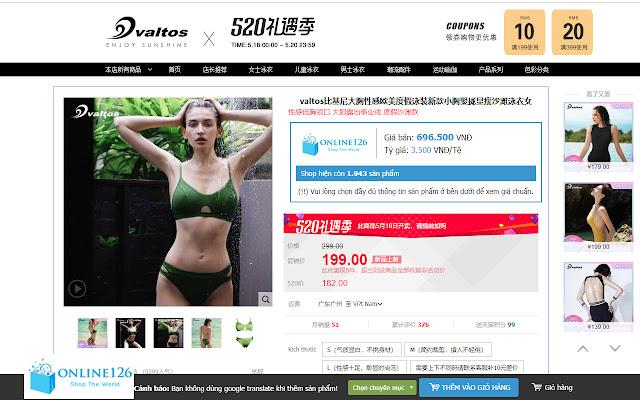 Online126 Nhập hàng trung quốc Order taobao