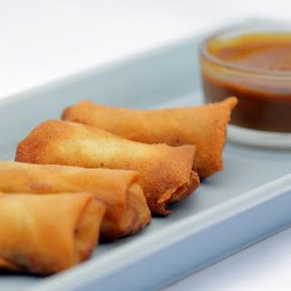 Banana Lumpia with Coconut Caramel Sauce