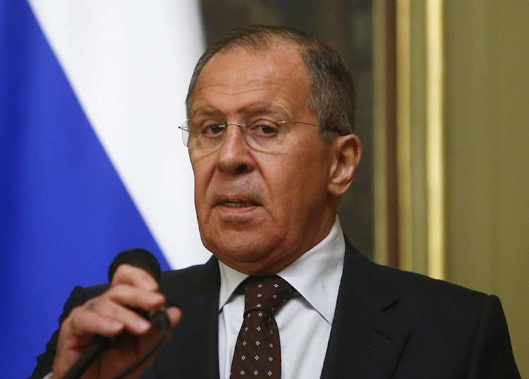 Russian Foreign Minister Sergei Lavrov speaks during a news conference after a meeting with his Indonesian counterpart Retno Marsudi in Moscow, Russia March 13, 2018.