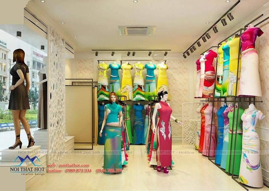 thiết kế shop áo dài 25m2