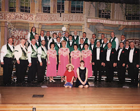 Photo: Hornell Maple City Barbershop Chorus 30th Anniversary Show Quartets performing were Minimum Daily Requirement, Tomorrow's News, Syndicated Sound, and Four 'til Midnight