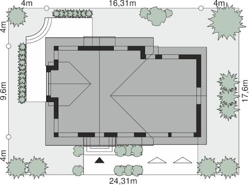 Dom przy Cyprysowej 15 K4 - Sytuacja
