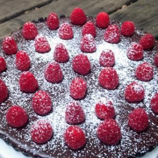 Dark Chocolate Raspberry Tart.
