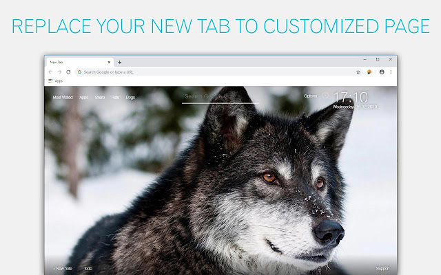 Wolf Wallpaper Wolves New Tab - freeaddon.com
