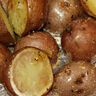 Oven Roasted Garlic Potatoes Recipe