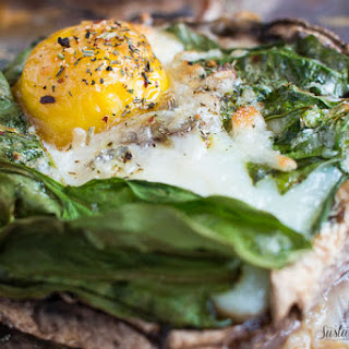 Portobello Baked Eggs with Spinach and Mozzarella