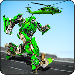 Helicopter Robot Transformation Flying Robot Games 1.0.4