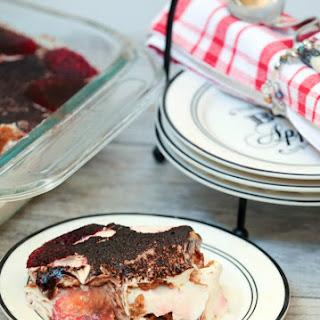 No Bake Strawberry Tiramisu Ice Box Cake