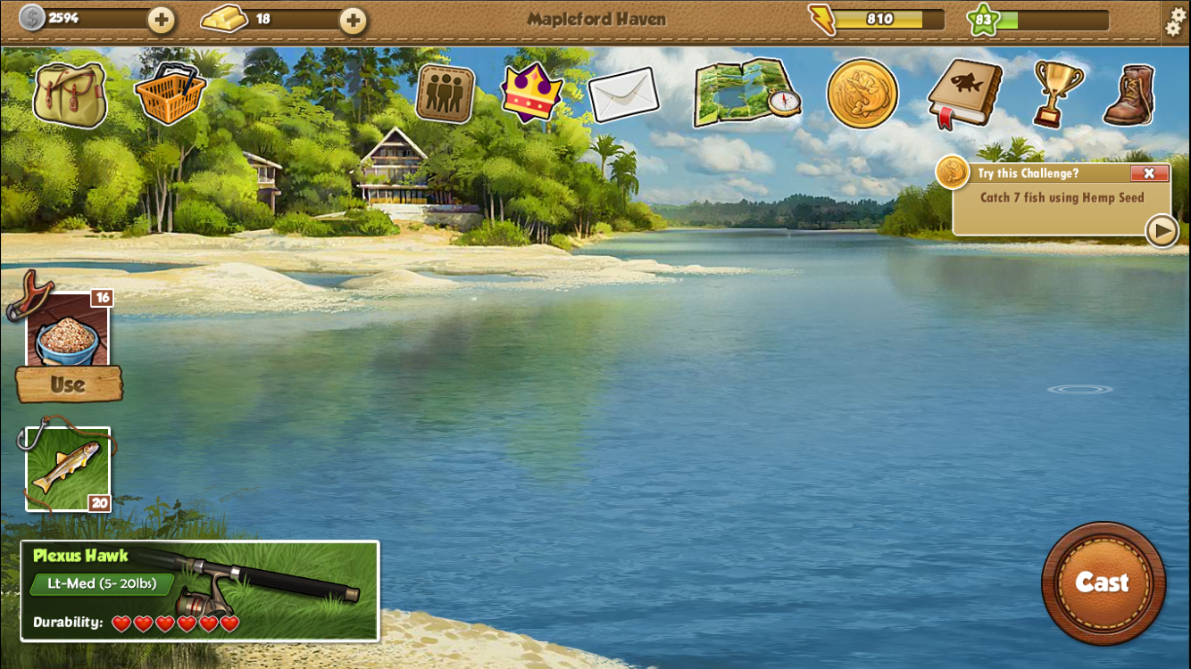 Fishing world android apps on google play for Fishing computer game