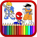 Super Hero Coloring Book for Kids and Adults Icon