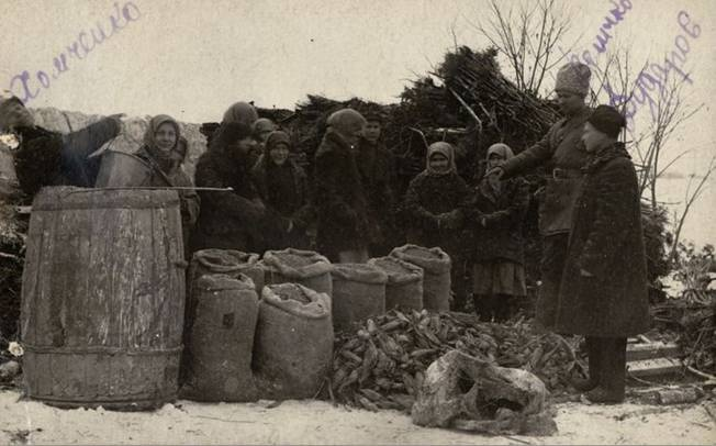 Нашли таки: Отряд хлебозаготовщиков в селе Новокрасное Одесской области. 1932 год