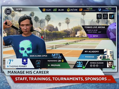 Tennis Manager 2019 MOD Apk 1.15.4356 (Unlimited Money) 9