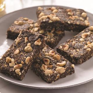 Healthy Chocolate Hazelnut Energy Bars.