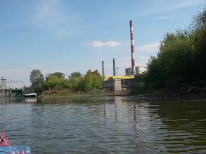 """Photo: elektrownia i śluza """"Żerań"""""""