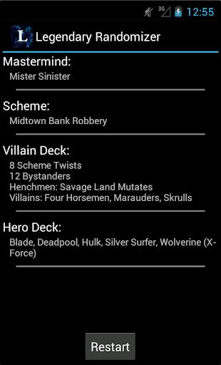Télécharger gratuit Smart Randomizer for Marvel Legendary DBG APK MOD 2