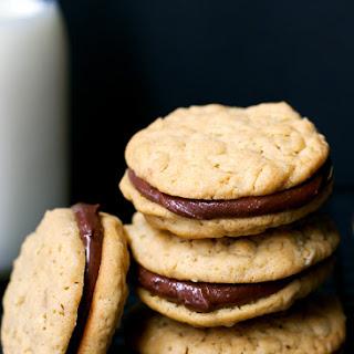 Peanut Butter Oat Sandwich Cookies