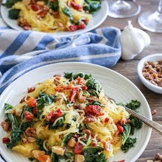 Roasted Garlic and Kale Spaghetti Squash.