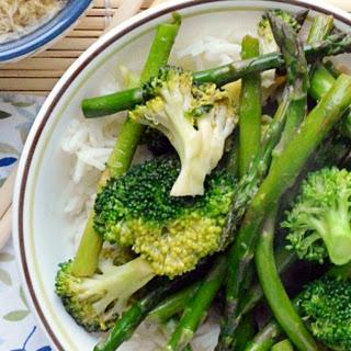 Asparagus Stir Fry over Rice.