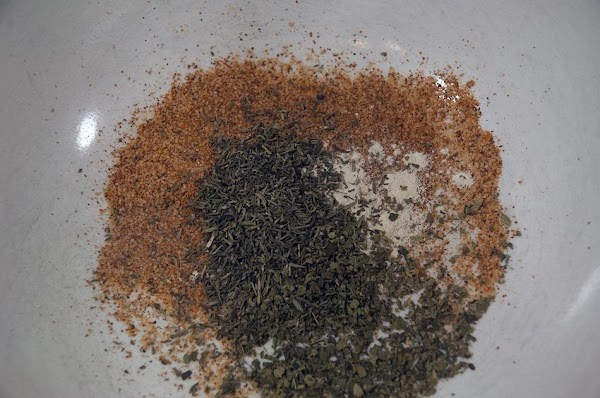 Combine the seasonings together in a bowl