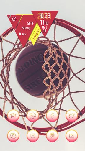 Basketball into the Basket