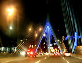 Photo: Zakim Bridge at night Photo by Sandra Lennon