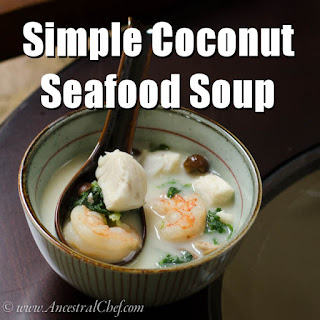 Simple Paleo Coconut Seafood Soup