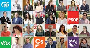 Los 27 concejales del Ayuntamiento de Almería, elegidos este 26M.