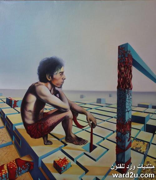 التكعيبية فى ذاكرة و ذكريات الفنان المغربي Abdelaziz Hounti