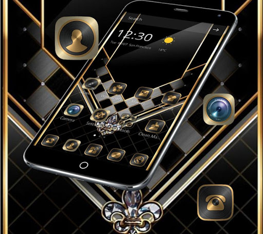 Gold Black Luxurious Theme 1.1.1 screenshots 6