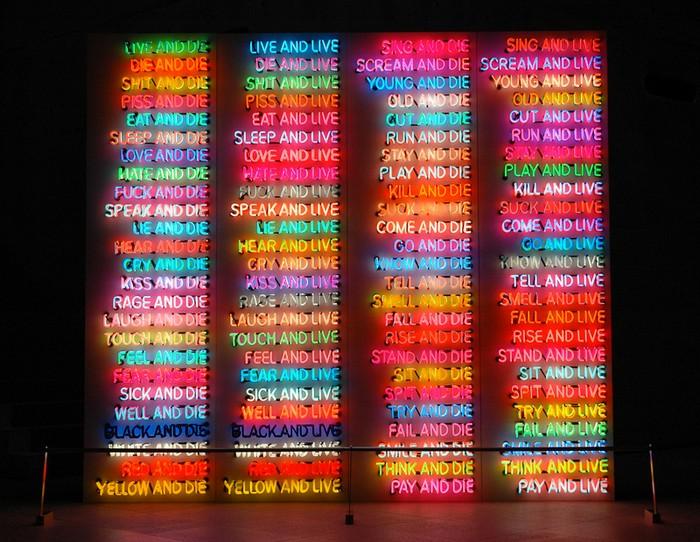 Bruce Nauman - Neon Art