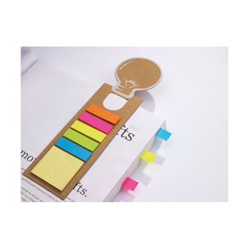 Branded Bookmark with Sticky Tabs in 5 Colours