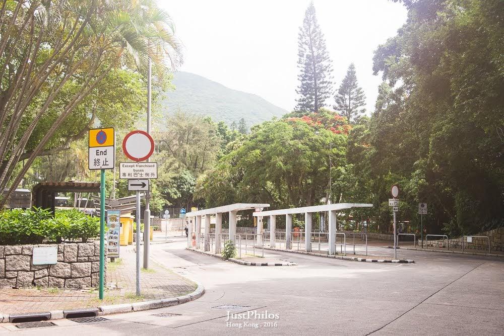 赤柱市集巴士總站,如果要搭同樣的車回程時在這搭乘即可。