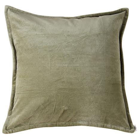 Kuddfodral, Sammet, Grön 60x60 cm
