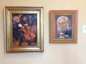 Photo: Oil Paintings by Sydelle Sher Apr. 2013 Weissman Ctr - Sher Artwork exhibit