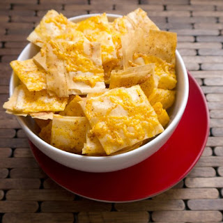 Cheddar Phyllo Crackers.