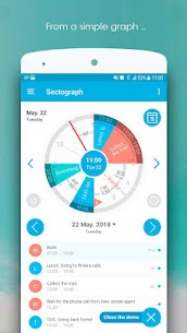 Sectograph. Planner & Time manager on clock widget Pro v5.7.2 Cracked APK 3