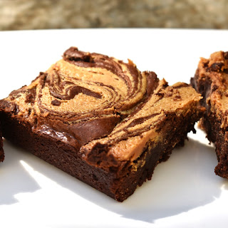 White Chocolate Peanut Butter Brownies.